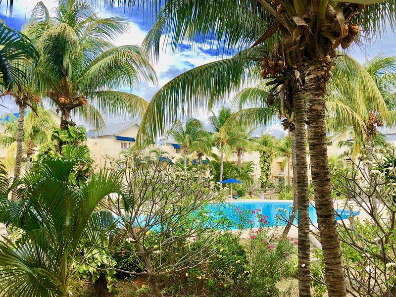 A piscina da residência