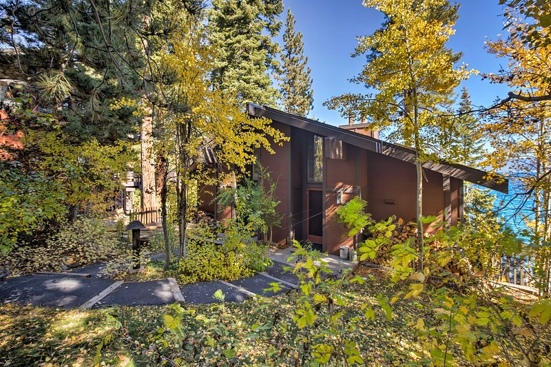 This home is nestled right within the natural wilderness.