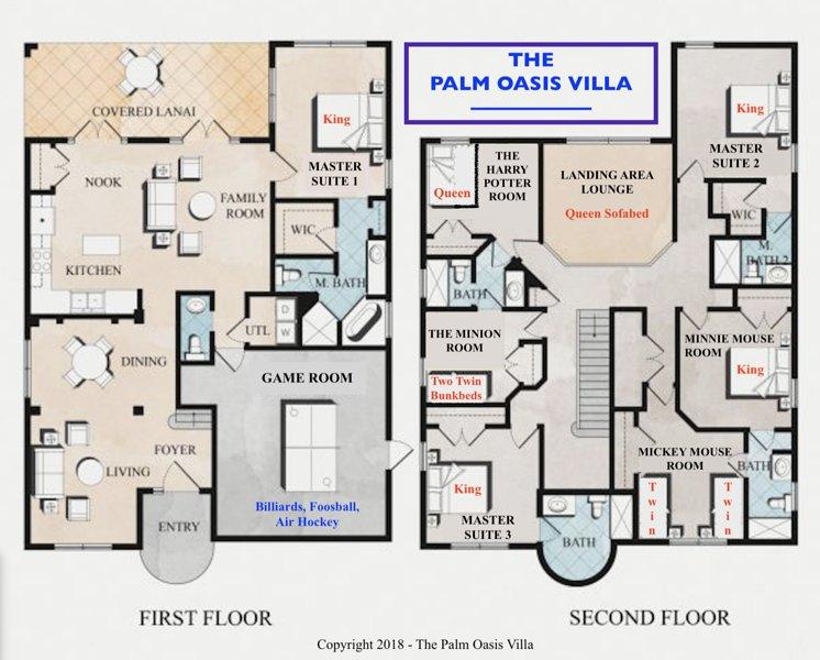 The Beautiful Palm Oasis Villa at Emerald Island Resort ** UPDATED on