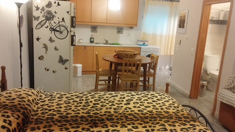 Charming studio in quiet area, holiday rental in Nea Erithraia