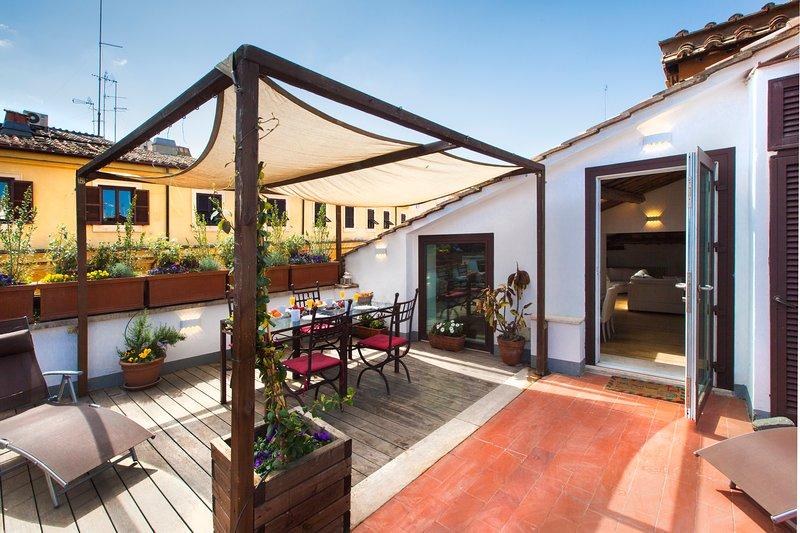 2BR apartment with Terrace Piazza Navona, location de vacances à Rome
