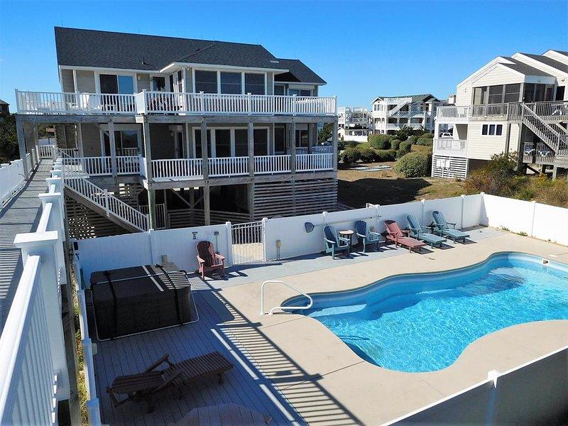 Ocean Front, Private Pool, Hot Tub, Elevator, Rec Room. WH-39, vakantiewoning in Corolla