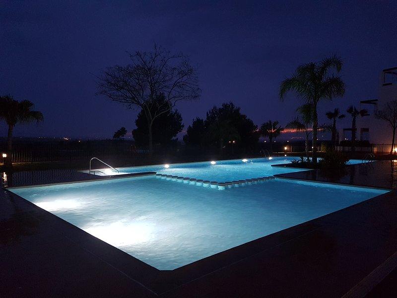 Pool next to apartment