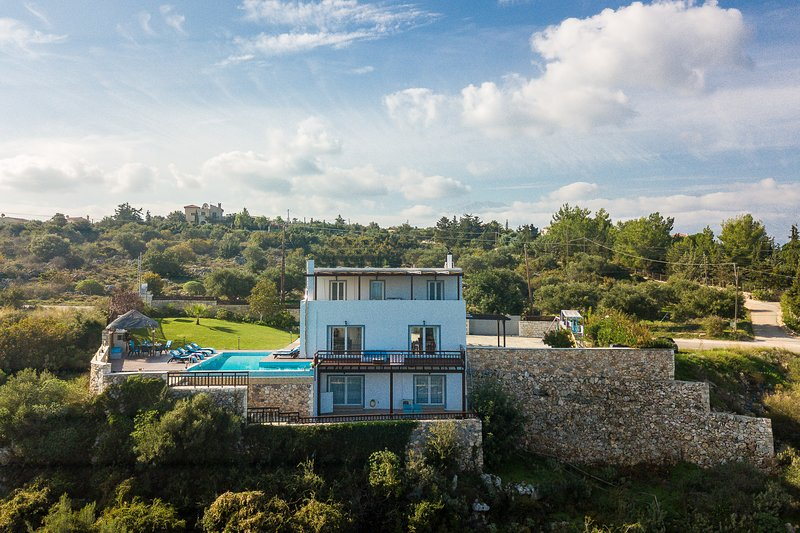 overview of villa and pool