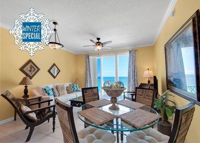 Majestic Sun 906A - Gulf View Condo at Seascape - Dining Area