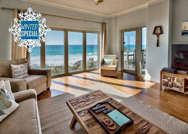 Topsl Beach Manor 413 - Beach Front Resort - Living Area