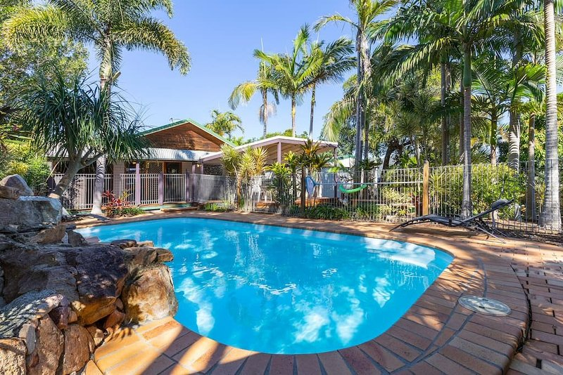 Relax and enjoy the private, quiet setting of the salt water pool & surrounds