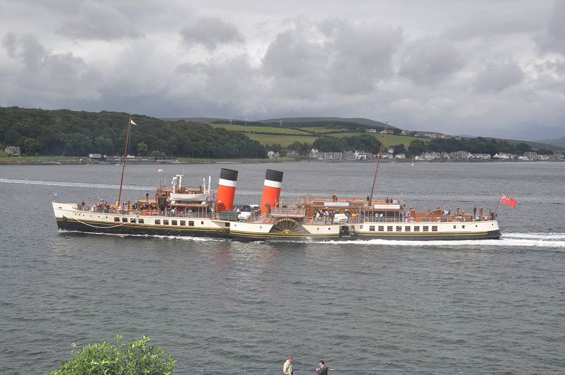 The Waverley - the worlds last seagoing paddle steamer - sailing past Bay Apartment