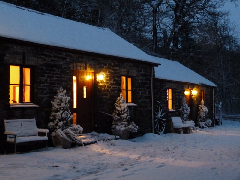 Winter evening at Yr Hen Stablau, December 2017