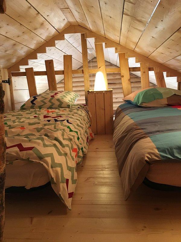 Mezzanine - two single beds