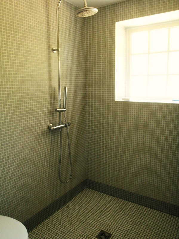 The downstairs wet room.