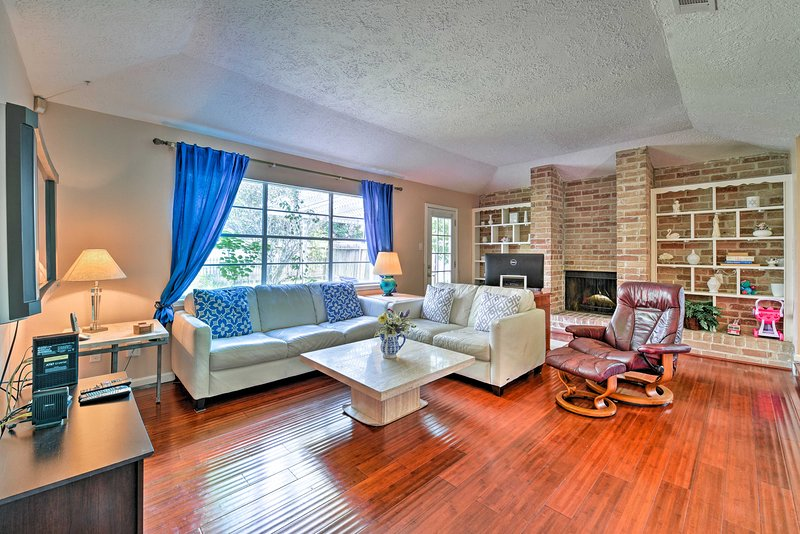 Explore Houston from this 4-bedroom, 2-bathroom vacation rental house.