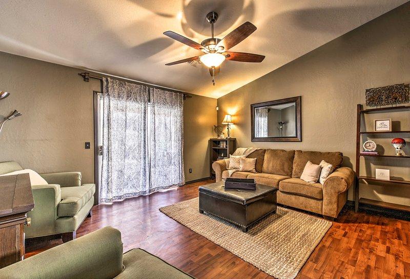 Unwind in this lavish 3-bedroom, 2-bathroom vacation rental townhome in Pheonix.