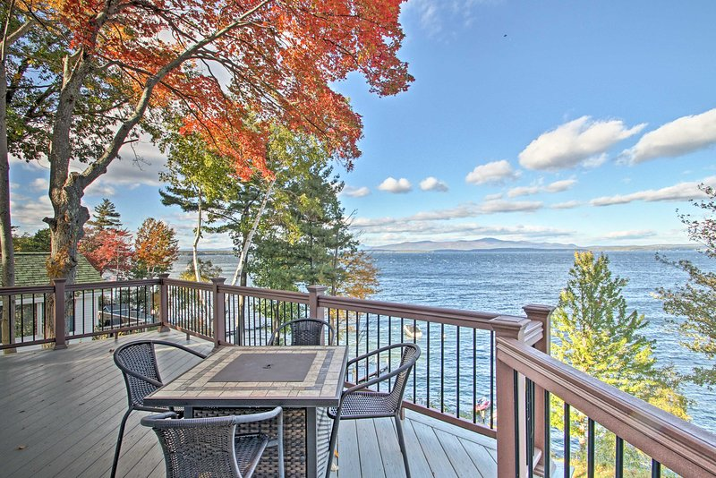 Waterfront Gilford Home w/Stunning Lake Views!, vacation rental in Gilford
