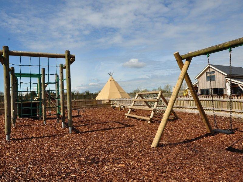 El área de juegos para niños.