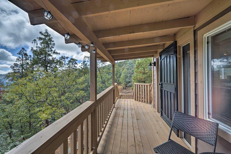 Verhoog je Prescott-uitje in dit Spruce Mountain-huis!