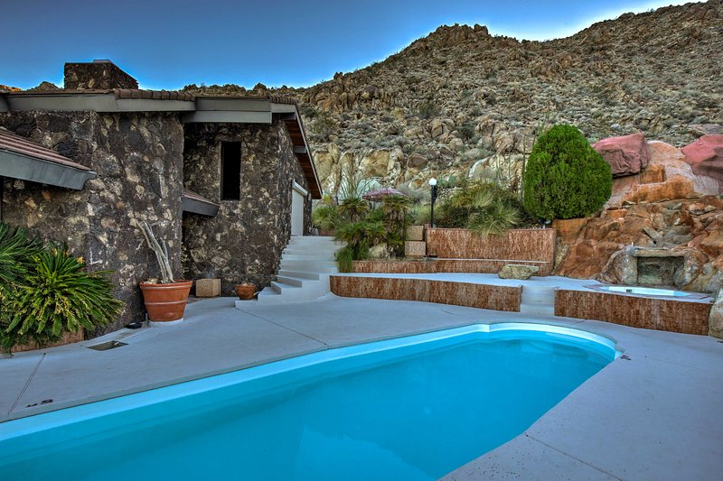 Take a dip in the private pool or soak your cares away in the jacuzzi.