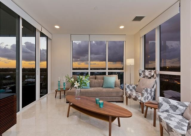 Enjoy the sunset from your living room