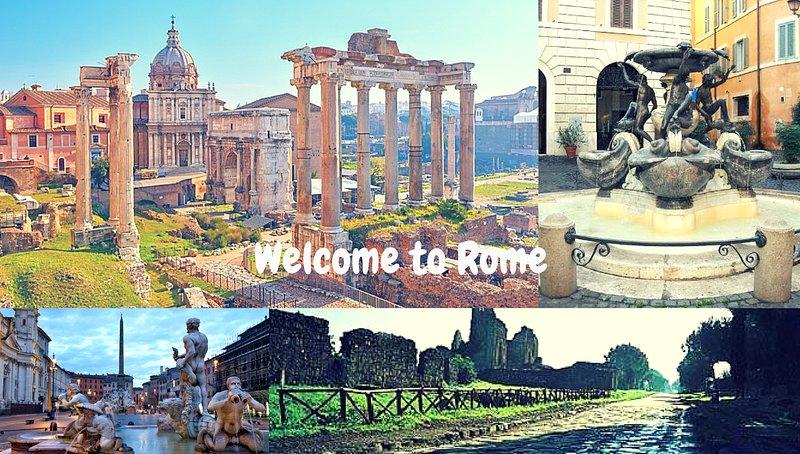 Bienvenue à Rome. bienvenue à Rome