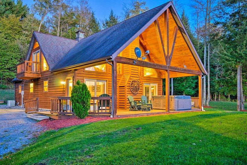 Esta cabaña de alquiler de vacaciones impresionante te está llamando a casa!