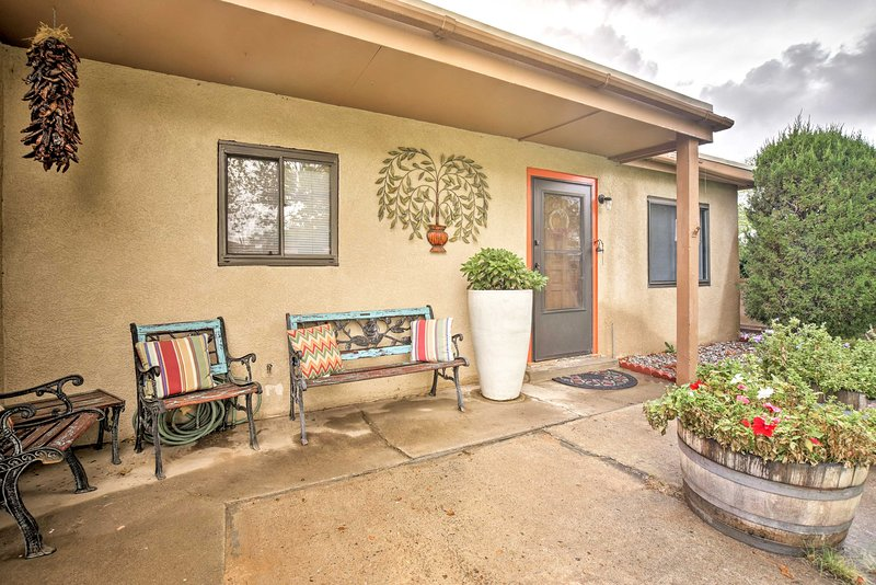 Outdoor adventure awaits when you stay at this charming Albuquerque house.