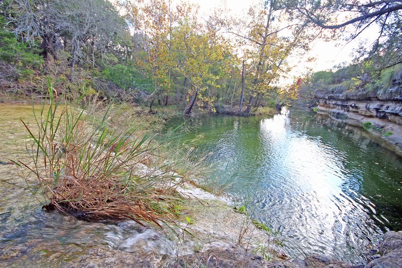 Hill Country Creek on the Property - Water level fluctuates based on recent rainfall amounts