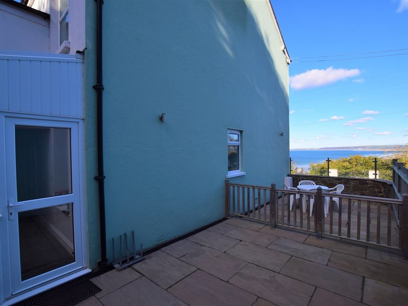 Beautiful sea views from the enclosed patio area