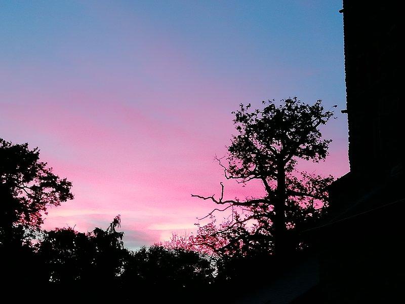 Le soleil au coucher