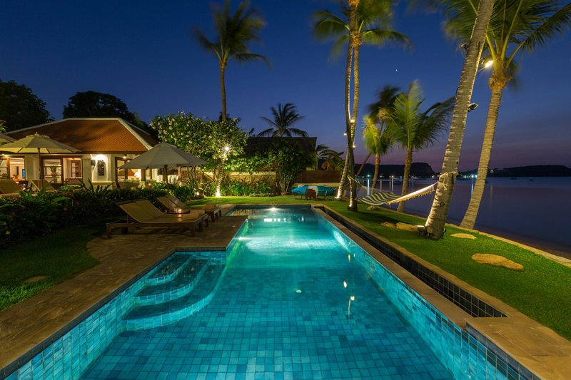 Take an evening dip in your private pool.