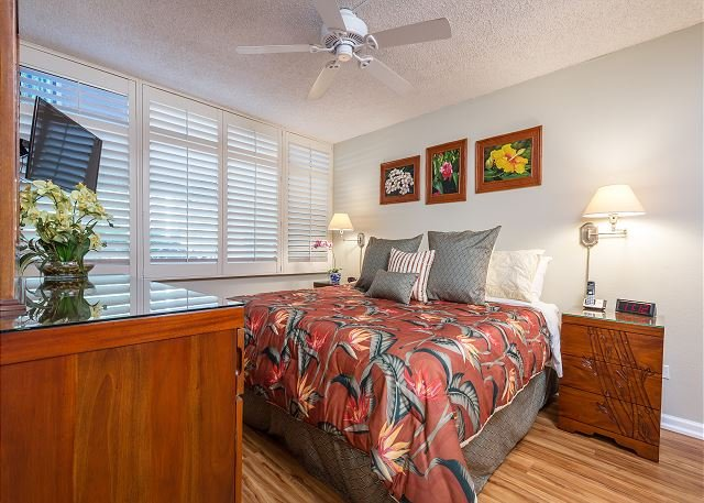 Master Bedroom With Luxury King Bed And Flat Screen TV