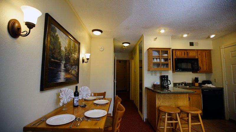 Dining area near the kitchen area
