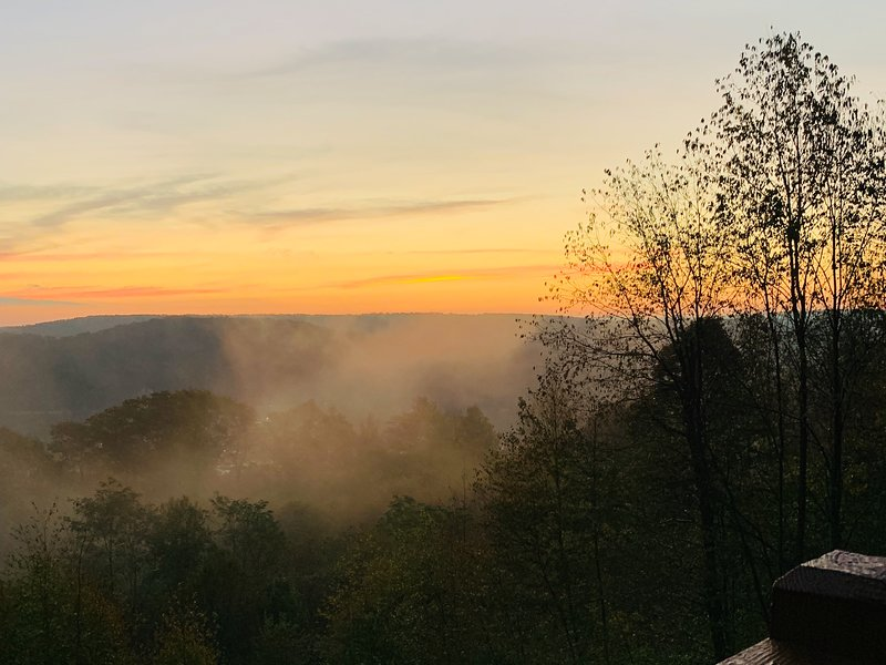 Sunrise view from the deck