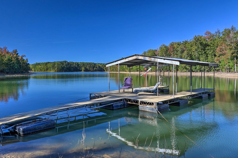 You'll love the peaceful surroundings of this lakefront vacation rental home!