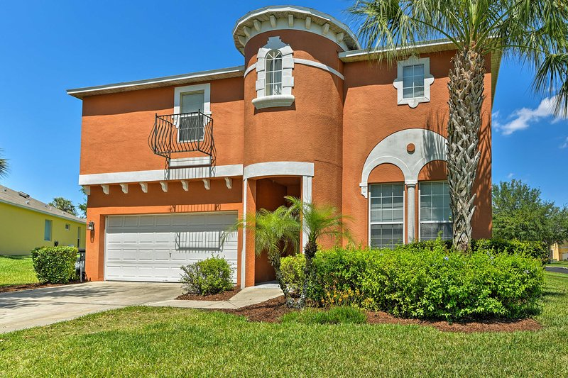 Fun-filled days await at this spacious 8-bedroom, 5-bathroom Kissimmee home.