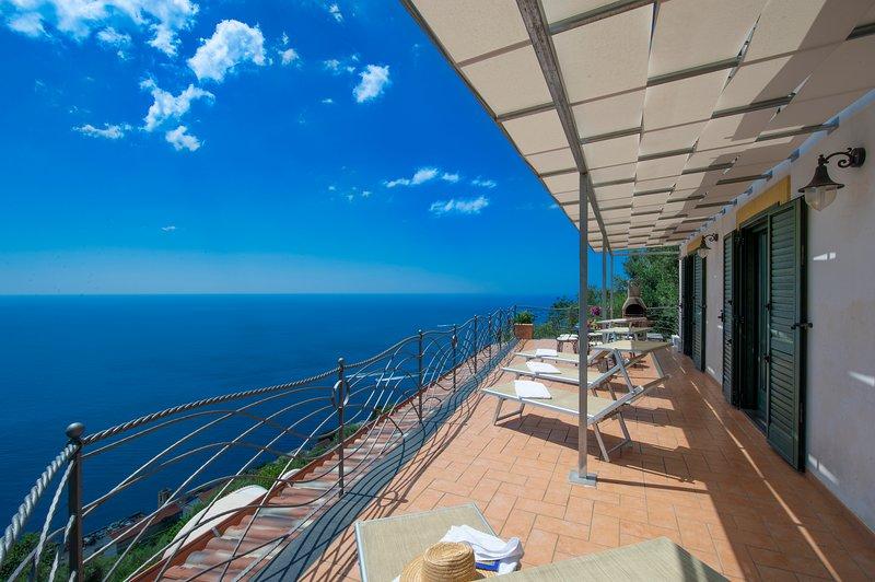 Amalfi coast L'Incanto, vacation rental in Fiordo di Furore