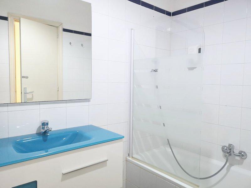 Bathroom (sink and shower)