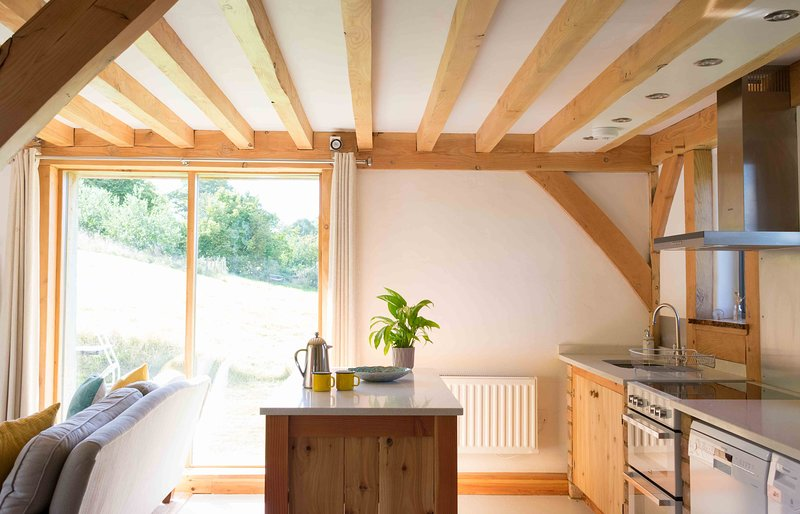 kitchen overlooking the meadow