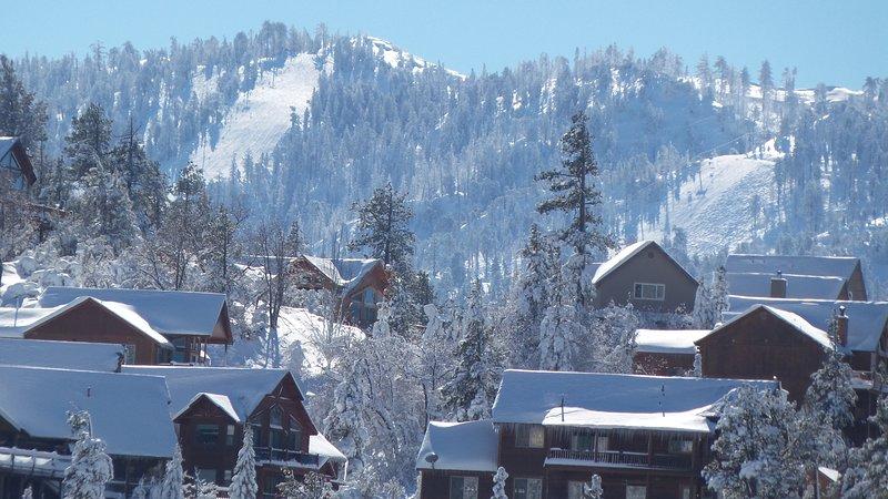 Vista de la estación de esquí en invierno