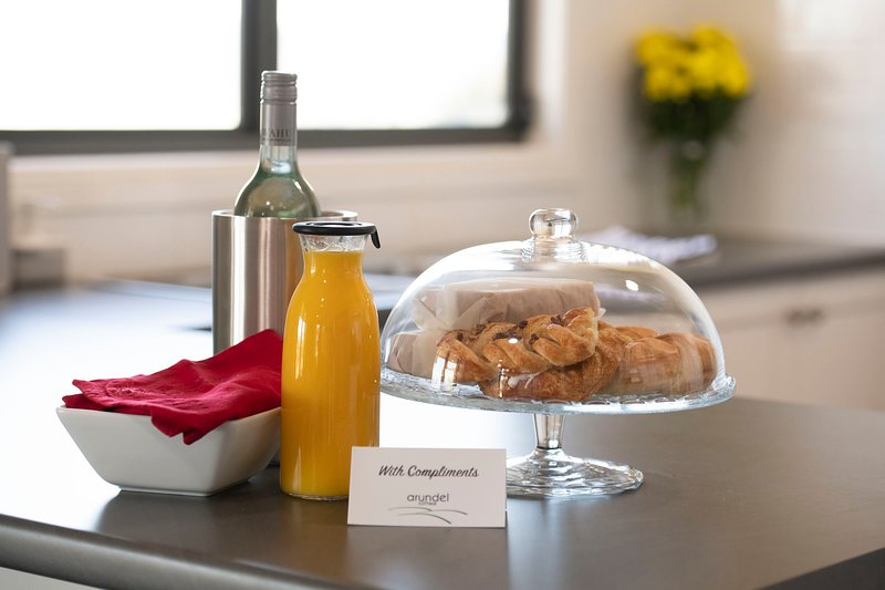 Complimentary Continental Breakfast for your first morning… just to get you started.