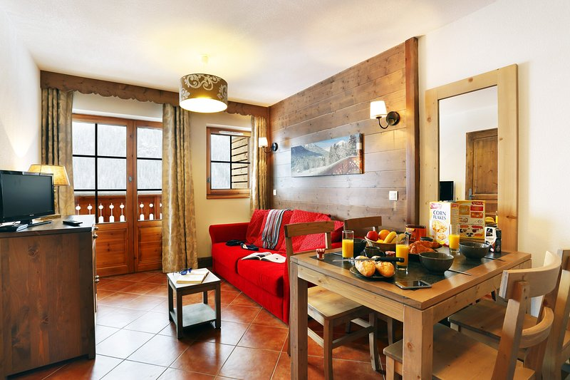 Welcome to our cozy 1 bedroom apartment in Châtel!