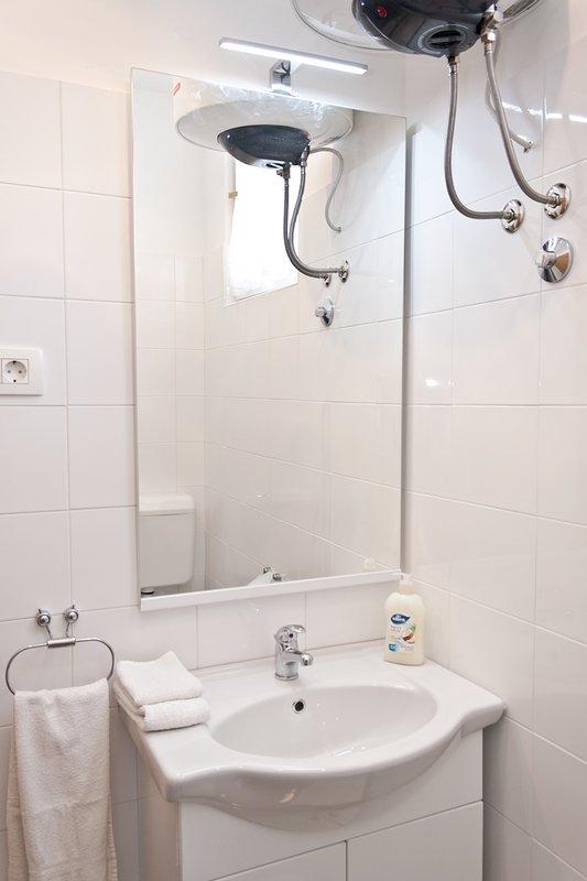 SA1 prizemlje (2+1): bathroom with toilet