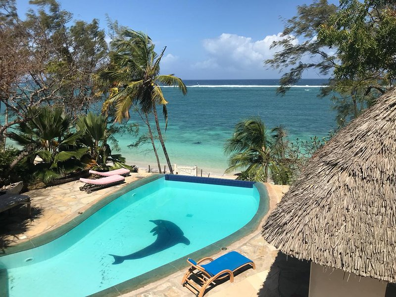 View of the Indian ocean from your private swimming pool