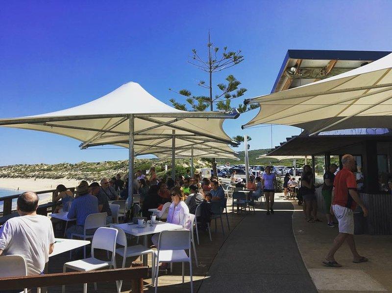 The White Elephant Café is a 10min walk away