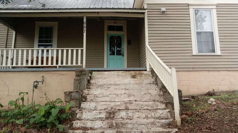 Front steps leading to your spacious house