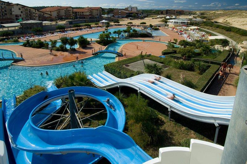 Pela água com muitos slides em Seignosse, 10min de carro