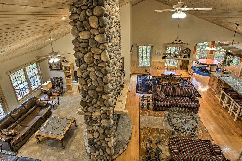 Unwind in this lavish 5-bedroom, 4-bathroom vacation rental home in Bellaire.