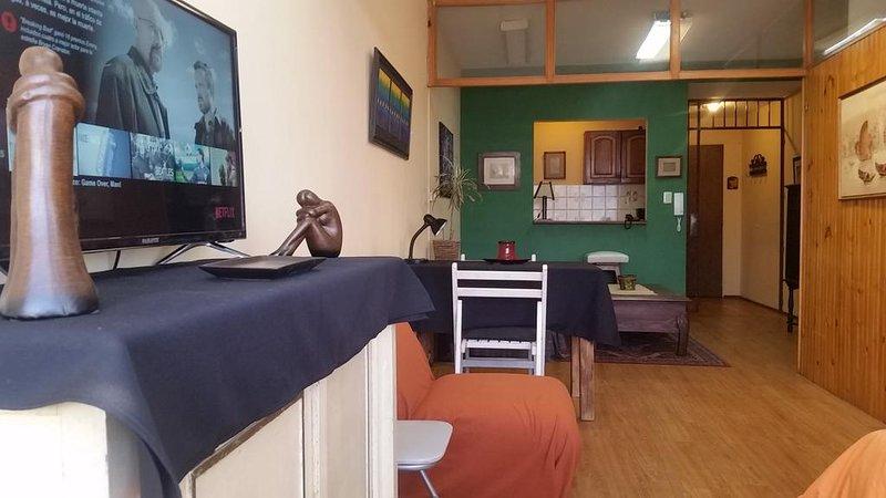 Excelente ubicación, acomoda 4 huéspedes, Netflix, WiFi alta velocidad, alquiler de vacaciones en Montevideo