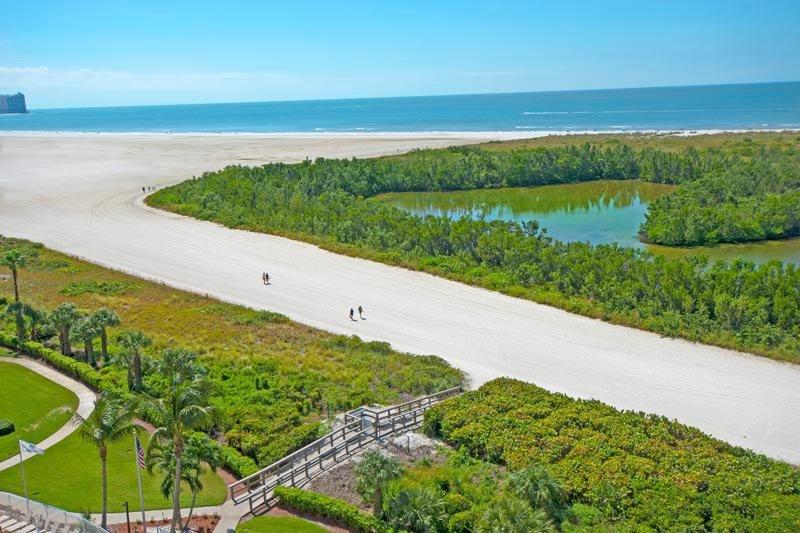 Blick auf Strand und Golf von Mexiko