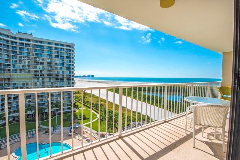 Balkon Blick auf den Strand
