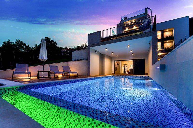Villa High View – Modern sea view villa with pool near Opatija, Istria, holiday rental in Opatija